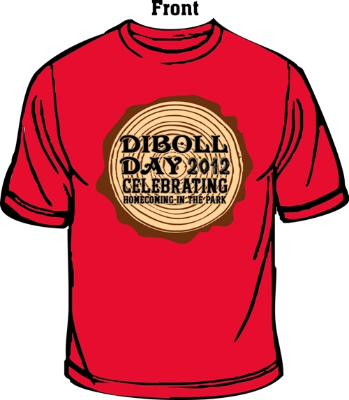 2012 Diboll Day t-shirt. Buy one from your favorite candidate!